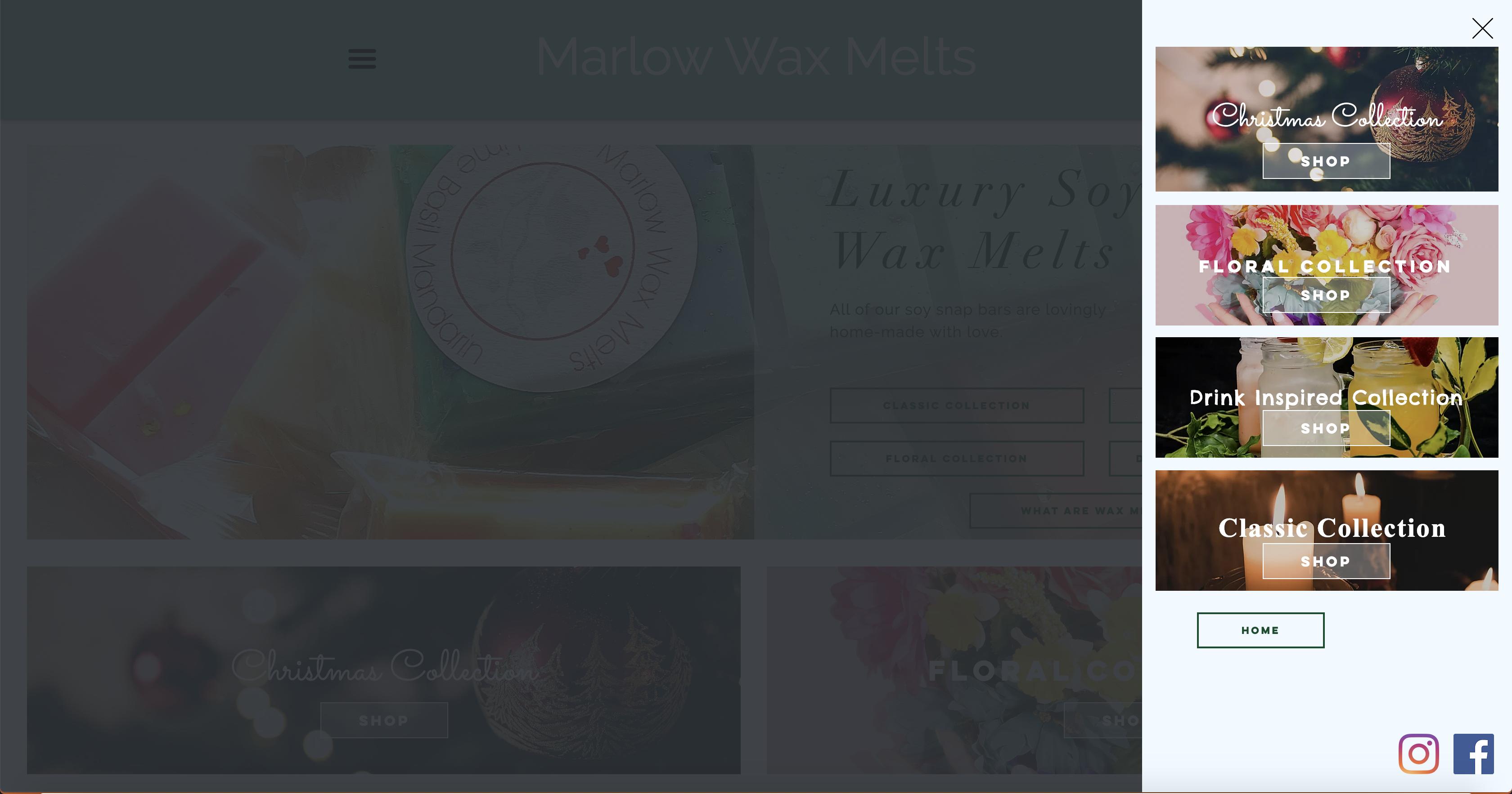 Marlow Wax Melts   Advance Menu