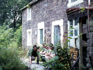 """1970s Cottage used as a walker's shelter. Managed by the """"Wayfarers"""""""