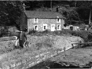 Mr Bowler, the last resident of the cottage. Circa 1968