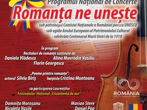 """""""Romanța ne unește"""", spectacol-eveniment la București"""