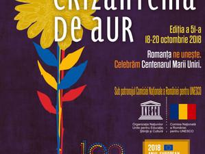 """Festivalul Naţional de Interpretare şi Creaţie a Romanţei """"Crizantema de Aur"""",  ediţia a 51-a, 2018,"""