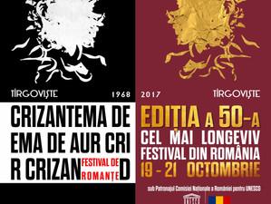 """Începe Festivalul Național de Romanțe """"Crizantema de aur"""", ediția a 50-a, jubiliară, la Târgoviște"""
