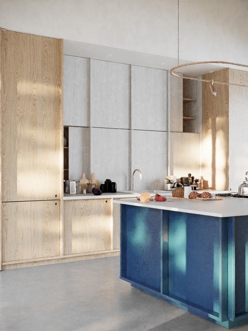 Strefa dzienna - widok na kuchnię