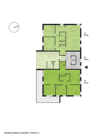 Przykład rozkładu mieszkań