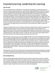 C!E Essential Learning - Leadership Grap