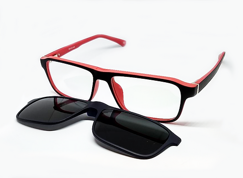 BLACK-RED CLIP ON FOR YOUR OPTICIAN