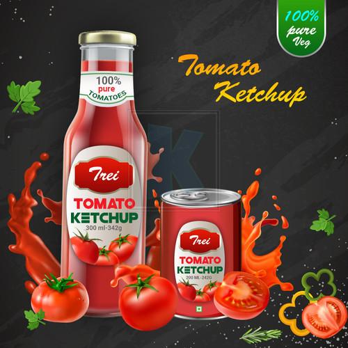TREI Tomato Ketchup - Packaging Designby KuniaLabs