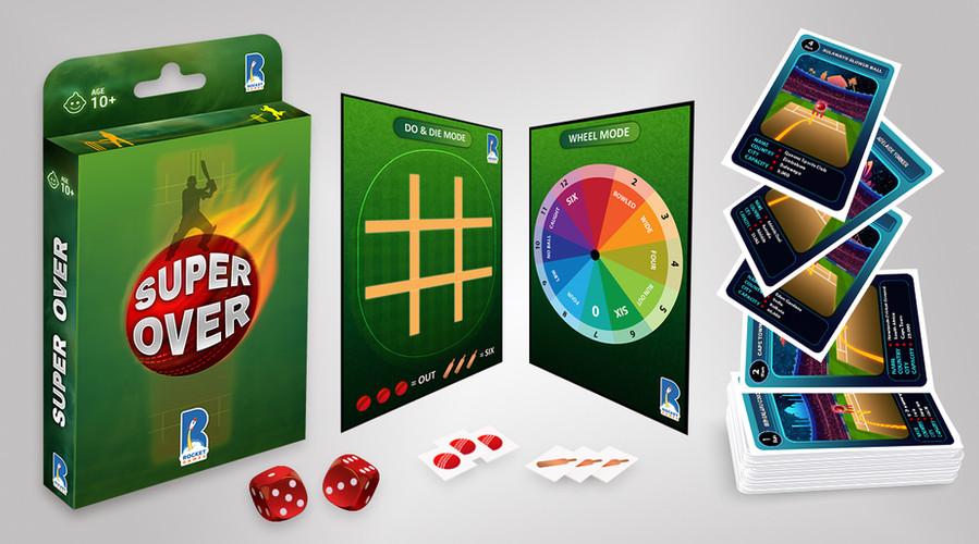 Super Over Super Fun Cricket Card Game b