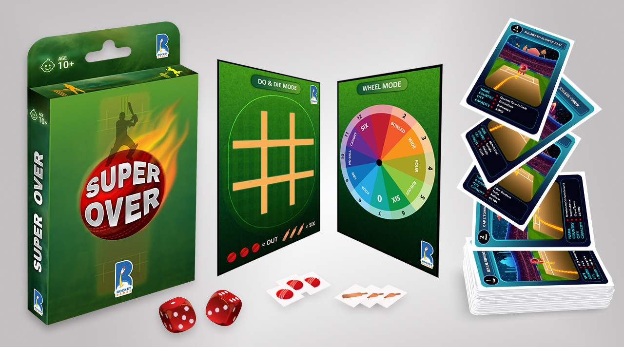SUPER OVER Cricket Card Game Video