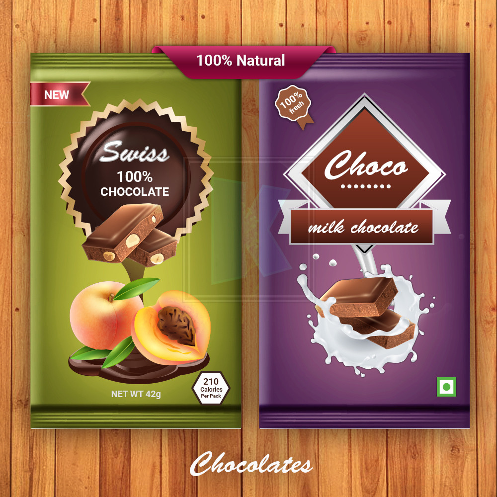 Swiss Chocolates - Packaging Designby KuniaLabs