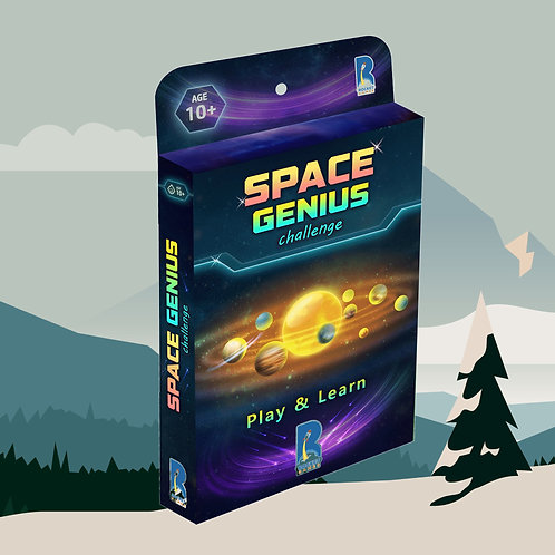 SPACE GENIUS card game for families by KuniaLabs