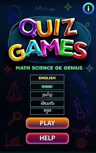 Quiz Games Math Science GK Genius Quiz M