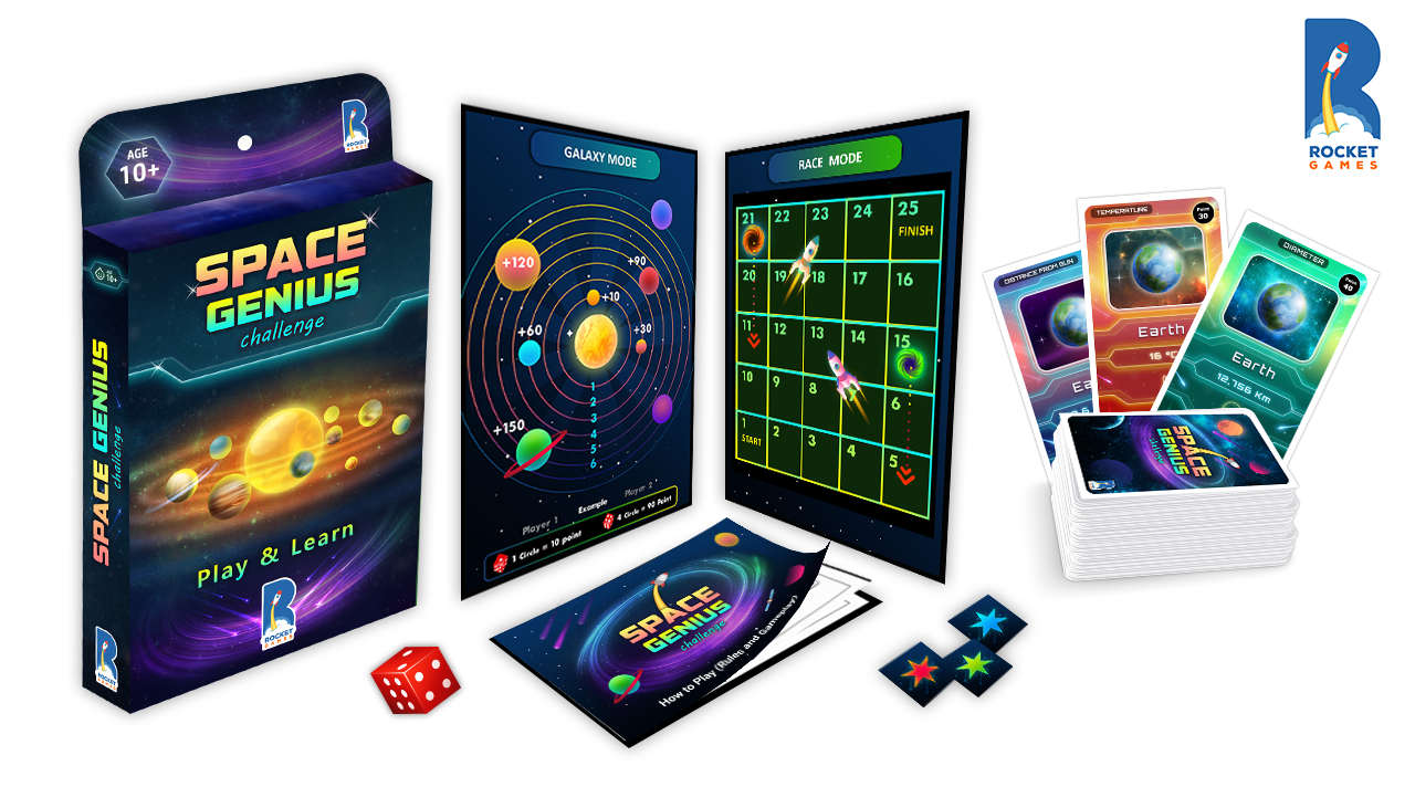 Space Genius Card Game for families by K