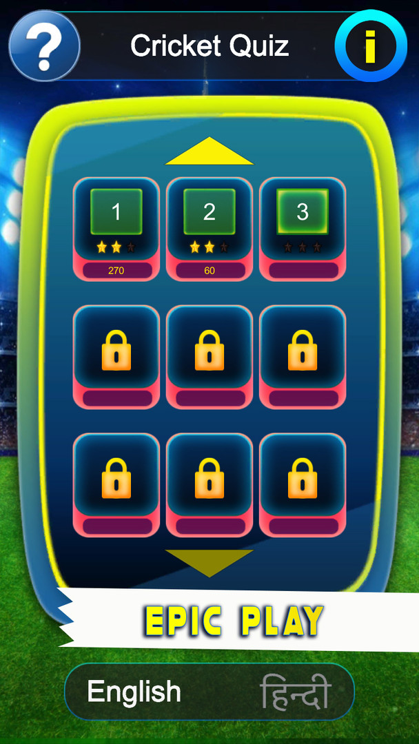 IPL T20 Cricket Quiz Game Levels