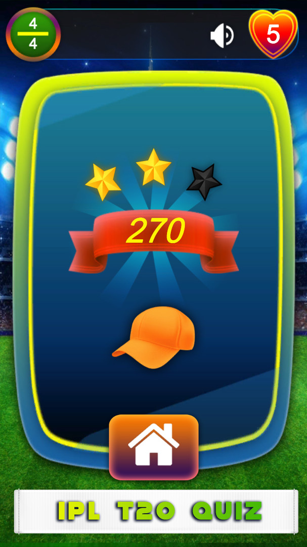 IPL T20 Cricket Quiz Game Reward Orange