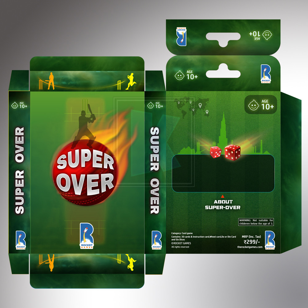 SUPER OVER Card Game - Packaging Design by KuniaLabs