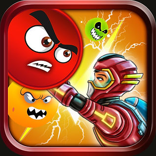 Octrons Challenge Mission Science Genius Mobile game icon. Available and launced on iOS and Android