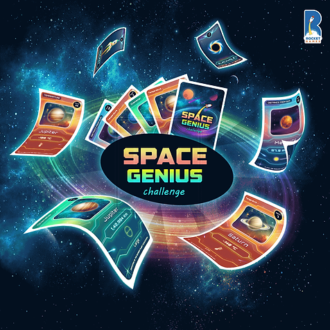 Space Genius Family Card Game by KuniaLa