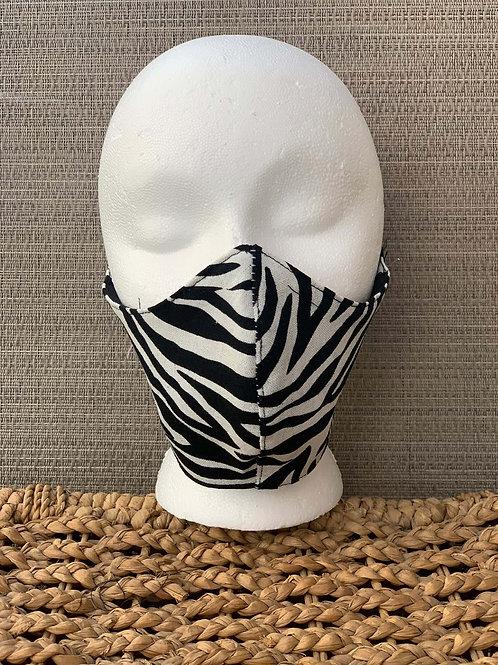 Zebra Print Face Mask