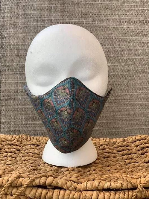 Paisley Blue Print Face Mask