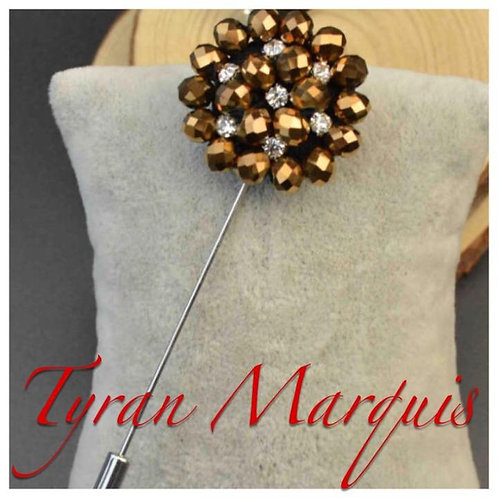 Gold and Silver Bead Lapel