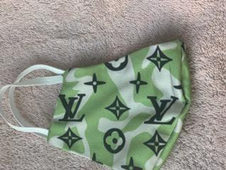 LV Green And White Face Mask