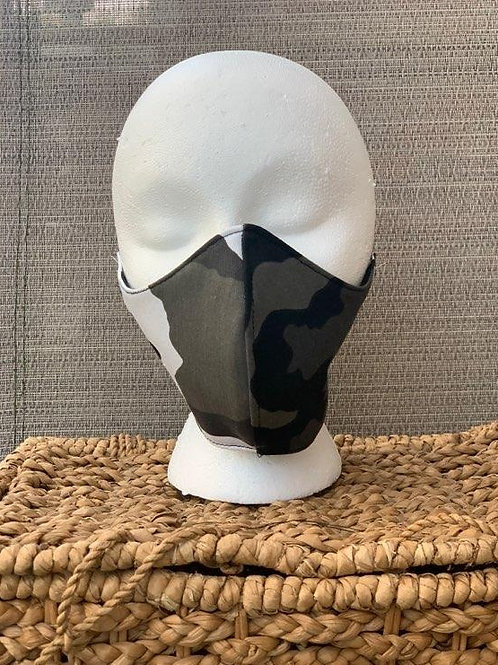 Black Camo Face Mask