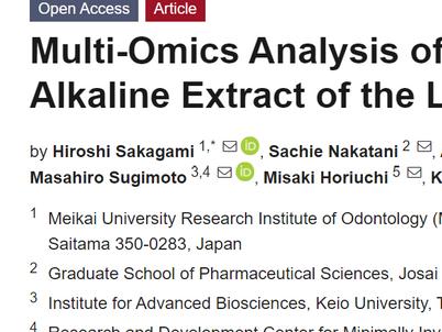 クマ笹葉アルカリ抽出液の抗炎症作用に関するマルチオミクス解析/Multi-omics analysis