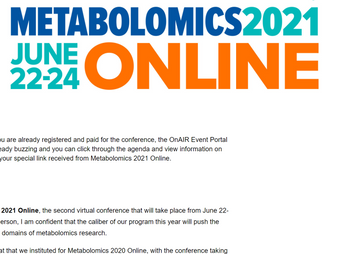 METABOLOMICS 2021でポスター発表を行いました / Poster presentation at METABOLOMICS 2021