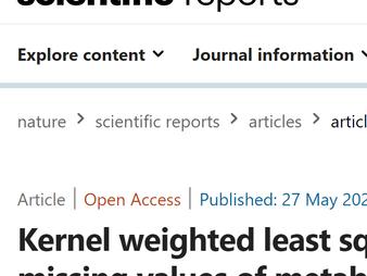メタボロミクスデータの欠測値処理に関する論文が掲載されました / Missing data imputation for metabolomics