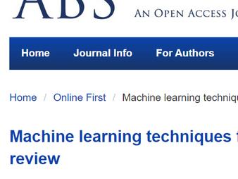 機械学習による乳がんの診断・治療に関する総説が掲載されました / A review  on machine learning techniques for breast cancer