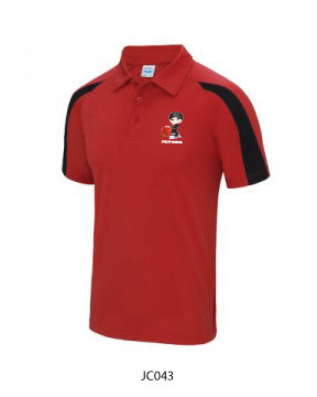 Kids Contrast Cool Polo Shirt Red