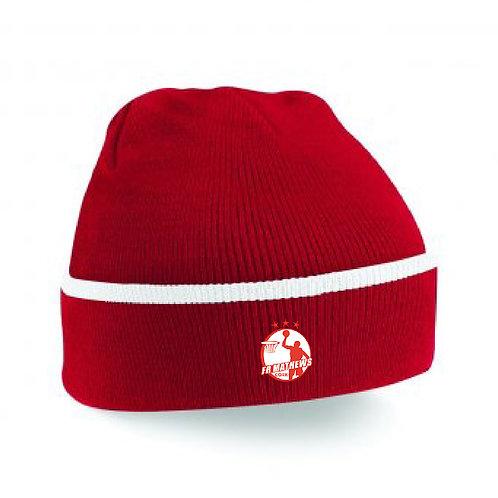 Beanie Hat Red/White