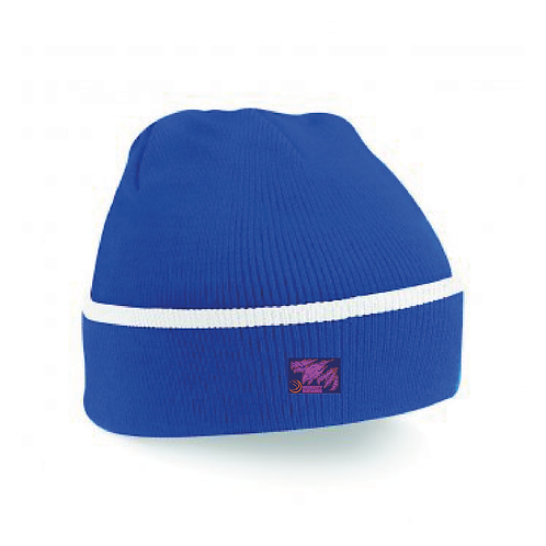 Beanie Hat Royal/White