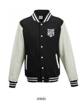 Kids Varsity Jacket Black/White