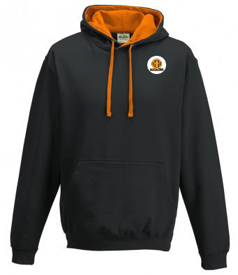 Adult Varsity Hoody Black/Orange