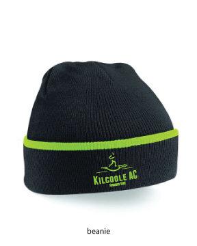 Beanie Hat Black/Lime Green