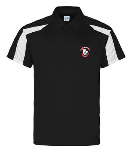 Adult Contrast Cool Polo Black/White