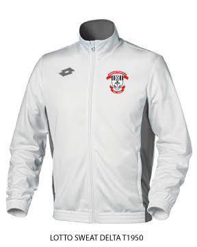 Adult Track Top Sweat Delta FZ White/Grey