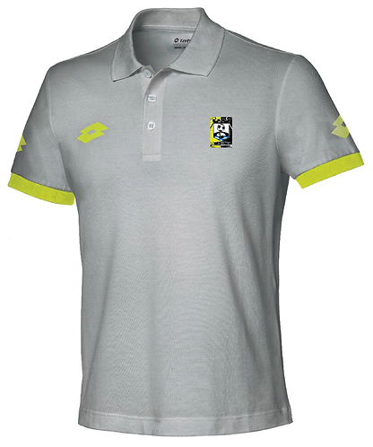 Adult Polo Shirt Grey/Yellow
