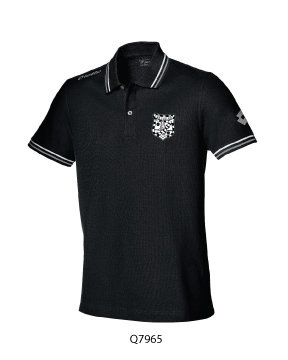 Kids Polo Shirt Black/White