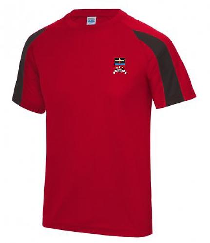 Adult Tee Shirt Red/Black