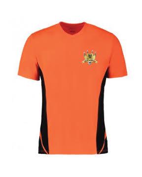Adult Contrast Cool T Shirt Orange/Black