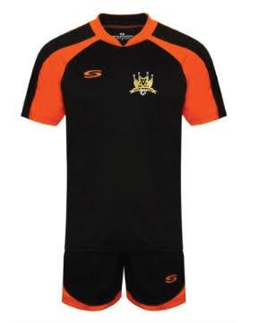 Adult Contrast Cool T Shirt Black/Orange