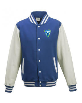 Kids Varsity Jacket Royal/White