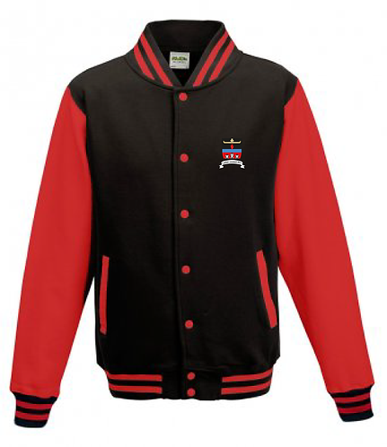 Adult Varsity Jacket Black/Red