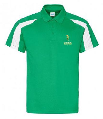 Adult Polo Shirt Green/White