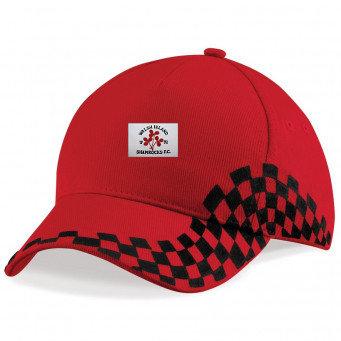 Baseball Cap 2 Colour Black/Red