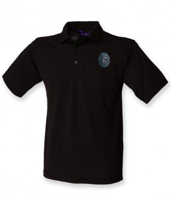 Mens Polo Shirt Black Cotton