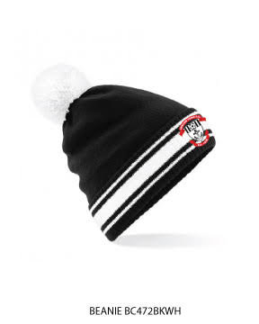 Beanie Stadium Bobble Black/White